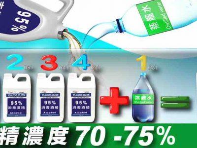 【酒精濃度70-75%】殺菌效果達99%